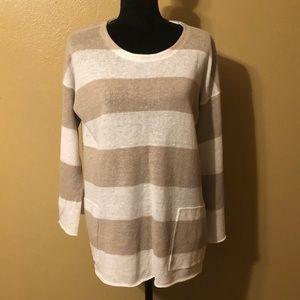Eileen Fisher Organic Linen Awning Stripe Sweater